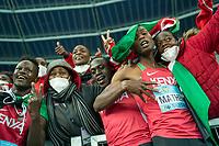 2nd May 2021; Silesian Stadium, Chorzow, Poland; World Athletics Relays 2021. Day 2; Team Kenya celebrate including Athletics Kenya CEO Susan Kamau