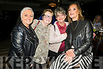 Attending the 'Bands For Bubbles' in aid ofSiobhain Maher Sequeval in Benners Hotel on Friday. <br /> L to r: Irene McCord, Catherine McCarthy, Katiana Lopo and Karen Quirke