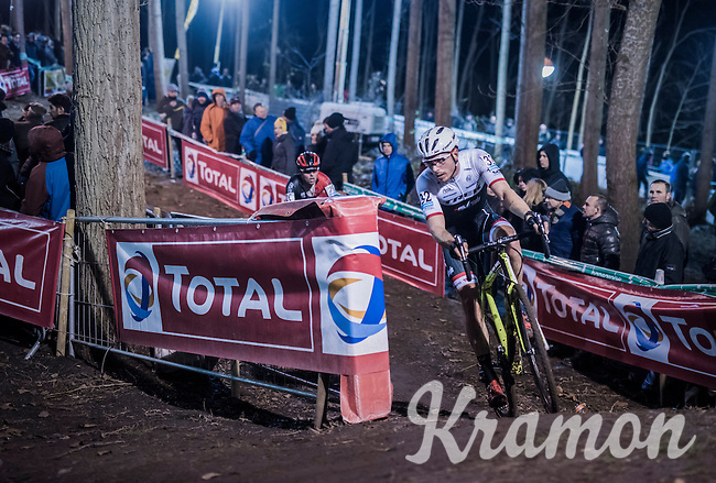 road racer Boy van Poppel (NED/Trek-Segafredo) joining in on the cyclocross fun<br /> <br /> Elite Men's race<br /> Superprestige Diegem 2016