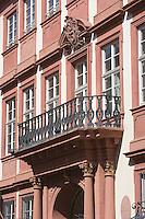 Europe/Allemagne/Bade-Wurtemberg/Heidelberg: détail de la façade baroque du palais Morass qui accueille le Musée du Palatinat