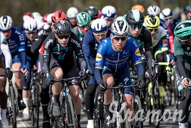 Mark Cavendish (GBR/Deceuninck - Quick Step) at the front<br /> <br /> 109th Scheldeprijs 2021 (ME/1.Pro)<br /> 1 day race from Terneuzen (NED) to Schoten (BEL): 194km<br /> <br /> ©kramon