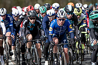 Mark Cavendish (GBR/Deceuninck - Quick Step) at the front<br /> <br /> 109th Scheldeprijs 2021 (ME/1.Pro)<br /> 1 day race from Terneuzen (NED) to Schoten (BEL): 194km<br /> <br /> ©kramon