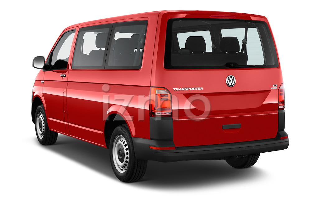 Car pictures of rear three quarter view of 2016 Volkswagen Transporter - 5 Door Passenger Van Angular Rear
