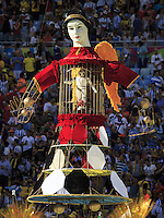 A model at the closing ceremony
