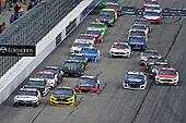 #11: Denny Hamlin, Joe Gibbs Racing, FedEx Express Toyota Camry and #2: Brad Keselowski, Team Penske, Western Star/Alliance Parts Ford Mustang