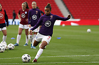 13th April 2021; Bet365 Stadium, Stoke, England; Nikita Parris of England warms up during the womens International Friendly,