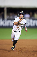 UCF Knights second baseman Matthew Mika (14) running the bases during a game against the Siena Saints on February 17, 2017 at UCF Baseball Complex in Orlando, Florida.  UCF defeated Siena 17-6.  (Mike Janes/Four Seam Images)