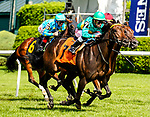 July 31, 2021: High Opinion #7, ridden by Irad Ortiz Jr. wins an allowance race on the turf on the Jim Dandy undercard at Saratoga Race Course in Saratoga Springs, N.Y. on July 31, 2021. Dan Heary/Eclipse Sportswire/CSM