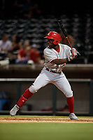 Chattanooga Lookouts Taylor Trammell (7) at bat during a Southern League game against the Birmingham Barons on July 24, 2019 at Regions Field in Birmingham, Alabama.  Chattanooga defeated Birmingham 9-1.  (Mike Janes/Four Seam Images)