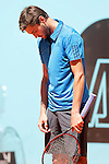 Gilles Simon, France, dejected during Madrid Open Tennis 2016 match.May, 2, 2016.(ALTERPHOTOS/Acero)