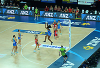 during the ANZ Premiership netball final between Northern Mystics and Mainland Tactix at Spark Arena in Auckland, New Zealand on Sunday, 8 August 2021. Photo: Dave Lintott / lintottphoto.co.nz
