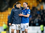 St Johnstone v Motherwell…..12.02.20   McDiarmid Park   SPFL<br />Goal scorers Callum Hendry and Chris Kane at full time<br />Picture by Graeme Hart.<br />Copyright Perthshire Picture Agency<br />Tel: 01738 623350  Mobile: 07990 594431