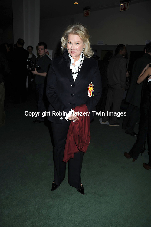 """Candice Bergen  attending the premiere of"""" Miral"""" at The United Nations on March 14, 2011 in New York City. Julian Schnabel directed the movie which is from the book by his girlfriend Rula Jebreal."""