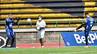 ITAGUI -COLOMBIA,22-11-2020:Leones y Valledupar   en partido por los cuadragulaes semifinales del Torneo BetPlay DIMAYOR I 2020 jugado en el estadio Metropolitano de Itagui . / Leones and Valledupar  in match for the semifinals quarters  BetPlay DIMAYOR Tournament I 2020 played at Metropolitano de Itagui stadium in Itagui: VizzorImage/  Luis Benavides / Contribuidor