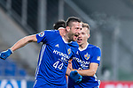 Ulsan Hyundai Forward Ivan Kovacec (L) celebrating his score with Ulsan Hyundai Midfielder Mislav Orsic (R) during the AFC Champions League 2017 Group E match between Ulsan Hyundai FC (KOR) vs Brisbane Roar (AUS) at the Ulsan Munsu Football Stadium on 28 February 2017 in Ulsan, South Korea. Photo by Victor Fraile / Power Sport Images