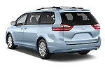 Car pictures of rear three quarter view of 2017 Toyota Sienna XLE 5 Door Minivan Angular Rear