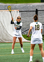 17 April 2021: University of Vermont Catamount Attacker Riley Halloran, a Junior from Houston, Texas, in action against the UMBC Retrievers at Virtue Field in Burlington, Vermont. The Lady Cats fell to the Retrievers 11-8 in the America East Women's Lacrosse matchup. Mandatory Credit: Ed Wolfstein Photo *** RAW (NEF) Image File Available ***