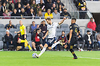 LOS ANGELES, CA - MARCH 08: Kacper Przybylko #23 of Philadelphia Union shoots against LAFC during a game between Philadelphia Union and Los Angeles FC at Banc of California Stadium on March 08, 2020 in Los Angeles, California.