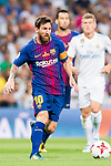Lionel Andres Messi of FC Barcelona in action during their Supercopa de Espana Final 2nd Leg match between Real Madrid and FC Barcelona at the Estadio Santiago Bernabeu on 16 August 2017 in Madrid, Spain. Photo by Diego Gonzalez Souto / Power Sport Images