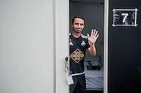 Thursday 02 July 2015<br /> Pictured: Leon Britton<br /> Re: Swansea City FC install sleeping pods at their training ground to help the players stay focused between training sessions