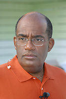 Miami, FL 2-27-2003<br /> Al Roker (NBC Today Show Weatherman) relaxes between takes while broadcasting from the Delano Hotel. Al is in town for the2nd Annual South Beach Wine and Food Festival.<br /> Photo By Adam Scull/PHOTOlink