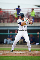 Burlington Bees designated hitter Jared Walsh (21) during a game against the Bowling Green Hot Rods on May 7, 2016 at Community Field in Burlington, Iowa.  Bowling Green defeated Burlington 11-1.  (Mike Janes/Four Seam Images)