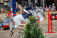 NZL-Annabel Francis rides Carado GHP. Class 23: Fiber Fresh Horse 1.40m Ranking Class. 2021 NZL-Easter Jumping Festival presented by McIntosh Global Equestrian and Equestrian Entries. NEC Taupo. Saturday 3 April. Copyright Photo: Libby Law Photography