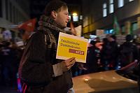 """Aus Protest gegen die Wahl am Mittwoch den 5. Februar 2020 von Thomas Karl Leonard Kemmerich (FDP) zum neuen Ministerpraesidenten von Thueringen durch die Stimmen der rechtsextremen """"Alternative fuer Deutschland"""" (AfD) protestierten am Abend bundesweite tausende Menschen. Sie warfen der FDP eine Zusammenarbeit mit der rechtsextremen Partei vor, nur um einen linken Ministerpraesidenten zu verhindern.<br /> Im Bild: Vor der FDP-Parteizentrale versammelten sich mehrere tausend Menschen. Sie riefen """"Schaemt euch!"""", """"Alle zusammen gegen den Faschismus!"""" und forderten den Ministerpraesidenten zum Ruecktritt auf.<br /> 5.2.2020, Berlin<br /> Copyright: Christian-Ditsch.de<br /> [NUR FUER REDAKTIONELLE ZWECKE! Werbung nur auf Anfrage beim Fotografen. Inhaltsveraendernde Manipulation des Fotos nur nach ausdruecklicher Genehmigung des Fotografen. Vereinbarungen ueber Abtretung von Persoenlichkeitsrechten/Model Release der abgebildeten Person/Personen liegen nicht vor. NO MODEL RELEASE! Don't publish without copyright Christian-Ditsch.de, Veroeffentlichung nur mit Fotografennennung, sowie gegen Honorar, MwSt. und Beleg. Konto: I N G - D i B a, IBAN DE58500105175400192269, BIC INGDDEFFXXX, Kontakt: post@christian-ditsch.de<br /> Bei der Bearbeitung der Dateiinformationen darf die Urheberkennzeichnung in den EXIF- und  IPTC-Daten nicht entfernt werden, diese sind in digitalen Medien nach §95c UrhG rechtlich geschuetzt. Der Urhebervermerk wird gemaess §13 UrhG verlangt.]"""