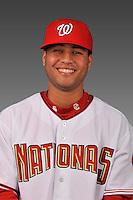 14 March 2008: ..Portrait of Yader Peralta, Washington Nationals Minor League player at Spring Training Camp 2008..Mandatory Photo Credit: Ed Wolfstein Photo