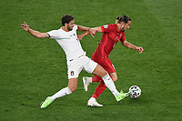 Yusuf Yazıcı Turkey and Manuel Locatelli of Italy during the Uefa Euro 2020 Group stage - Group A football match between Turkey and Italy at stadio Olimpico in Rome (Italy), June 11th, 2021. Photo Andrea Staccioli / Insidefoto