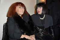 Sonia RYKIEL et Chantal THOMASS - Vernissage de l'exposition C'est la France l'esprit francais partout dans le monde avec les photographies de Sophie Delaporte - Espace Pierre Cardin Paris