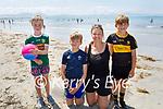 Enjoying the glorious sunshine on Ballyheigue beach on Sunday, l to r: J J Landers, Luke, Gillian and Cathal Foley from Killarney.