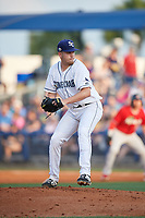 Charlotte Stone Crabs relief pitcher Alex Valverde (32) during a Florida State League game against the Fort Myers Miracle on April 6, 2019 at Charlotte Sports Park in Port Charlotte, Florida.  Fort Myers defeated Charlotte 7-4.  (Mike Janes/Four Seam Images)