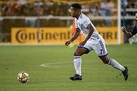 SAN JOSE,  - SEPTEMBER 1: Cristian Higuita #7 of the Orlando City SC during a game between Orlando City SC and San Jose Earthquakes at Avaya Stadium on September 1, 2019 in San Jose, .