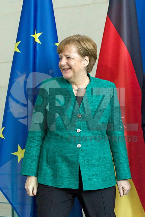 Pressekonferenz von Bundeskanzlerin Angela Merkel am 16. Februar 2018 im Bundeskanzleramt Berlin.   Press Conference by the German Chancellor Angela Merkel on 16 February 2018 at the Federal Chancellery in Berlin.<br /> Credit: A.v.Stocki/face to face