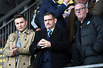 St Johnstone v Hearts…05.04.17     SPFL    McDiarmid Park<br />Saints Chairman Steve Brown (centre) pictured alongside Director Stan Harris (right)<br />Picture by Graeme Hart.<br />Copyright Perthshire Picture Agency<br />Tel: 01738 623350  Mobile: 07990 594431