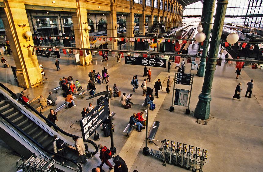 France. Paris. Gare du Nord, terminal for Eurostar and Thalys international high speed trains.