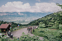 The race starts with a serious climb out of the valley<br /> <br /> Stage 5: Grenoble > Valmorel (130km)<br /> 70th Critérium du Dauphiné 2018 (2.UWT)