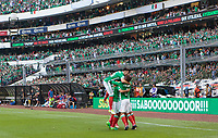 Mexico City, Mexico - Sunday June 11, 2017: Carlos Vela, EL TRI goal celebration during a 2018 FIFA World Cup Qualifying Final Round match with both men's national teams of the United States (USA) and Mexico (MEX) playing to a 1-1 draw at Azteca Stadium.