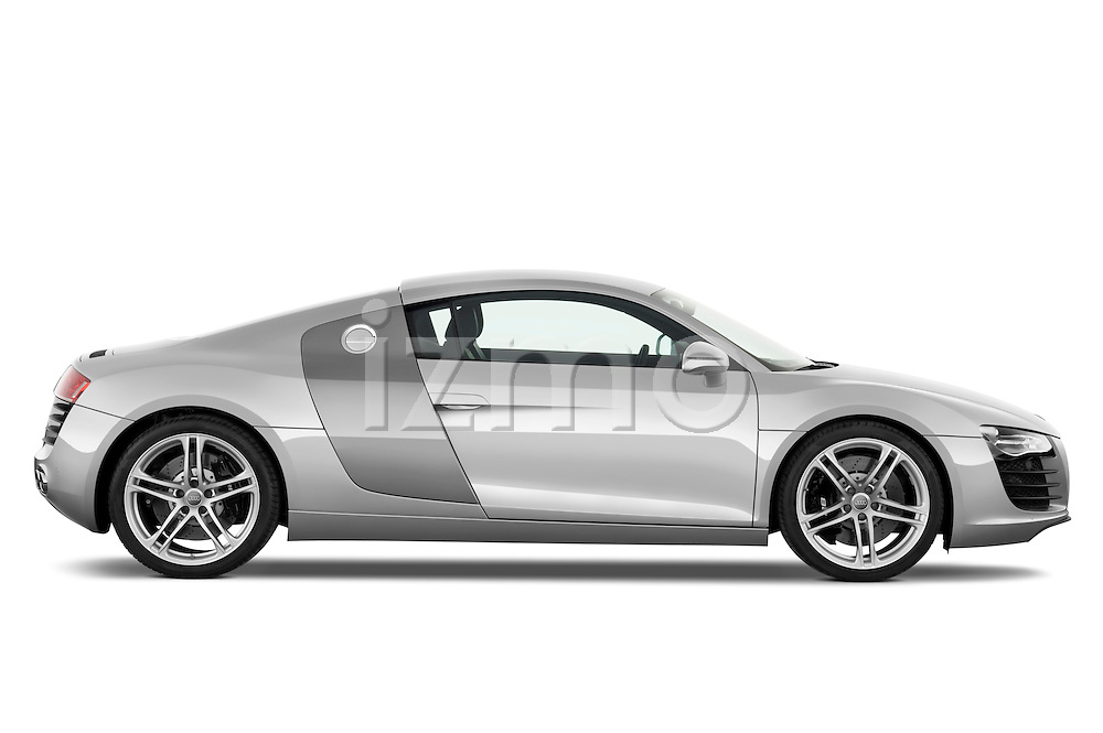 Passenger side profile view of a 2008 - 2012 Audi R8 V8 FSI Coupe.