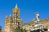 Kathedrale und Palazzo Arcivescovile in Palermo, Sizilien, Italien , UNESCO-Weltkulturerbe