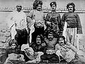 Iran 1923 In Tikantape Mukri,  from right standing Ali Agha Amir As'ad, Debukri's chief, Sardar Ali Khan Mukri, Abdullah Khan  Sohrabi Salar As'ad, Mihemed  Hsen Khan Shajei to left seated,Hasan Khan Shajei, Mistefa Beg Iqbal, Mihemed Kerim Beg Dadkha and Ahmed Khan Shajei    Iran 1923  Chefs de tribus de la region de Bukan