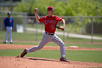 Los Angeles Angels relief pitcher Marc Brakeman (81) delivers a pitch to the plate during an Extended Spring Training game against the Chicago Cubs at Sloan Park on April 14, 2018 in Mesa, Arizona. (Zachary Lucy/Four Seam Images)