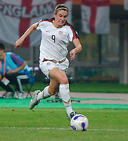 USA forward (9) Heather O'Reilly. The United States (USA) defeated England (ENG) 3-0 during a quarter-final match of the FIFA Women's World Cup China 2007 at Tianjin Olympics Center Stadium in Tianjin, China, on September 22, 2007.