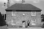 Sandwich Kent. Bun race St Bartholomew's day. 1975. St Batrholomew's Hospital, Town Crier at start of days activity.