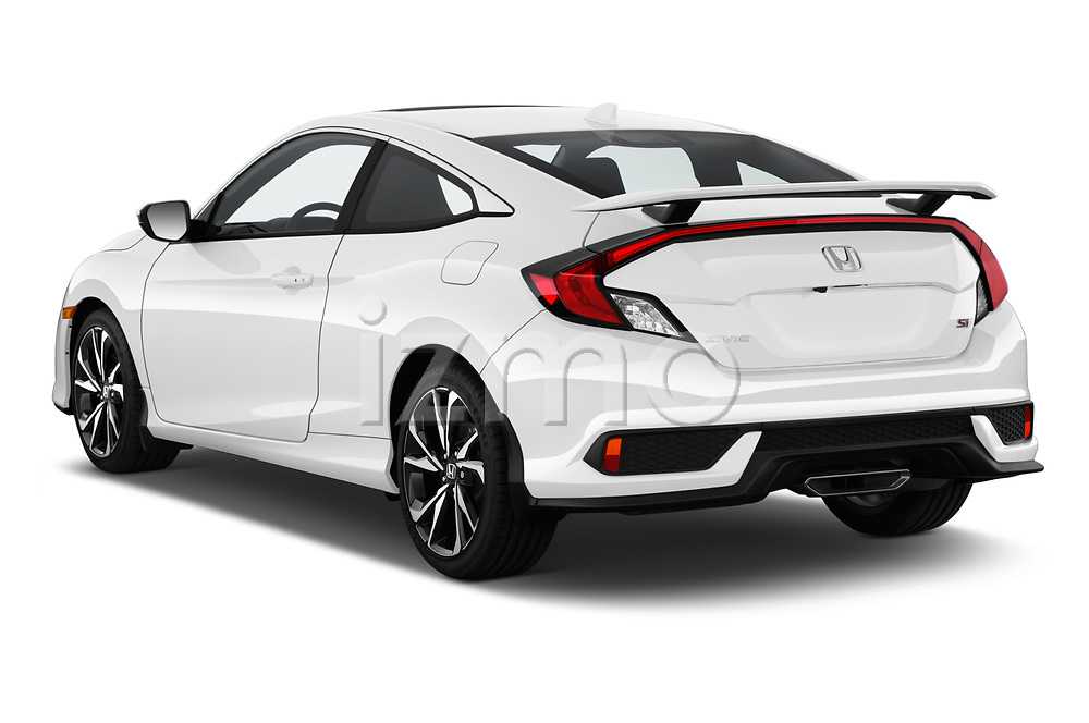 Car pictures of rear three quarter view of 2019 Honda Civic-Si-Coupe - 2 Door Coupe Angular Rear