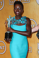 LOS ANGELES, CA - JANUARY 18: Lupita Nyong'o in the press room at the 20th Annual Screen Actors Guild Awards held at The Shrine Auditorium on January 18, 2014 in Los Angeles, California. (Photo by Xavier Collin/Celebrity Monitor)
