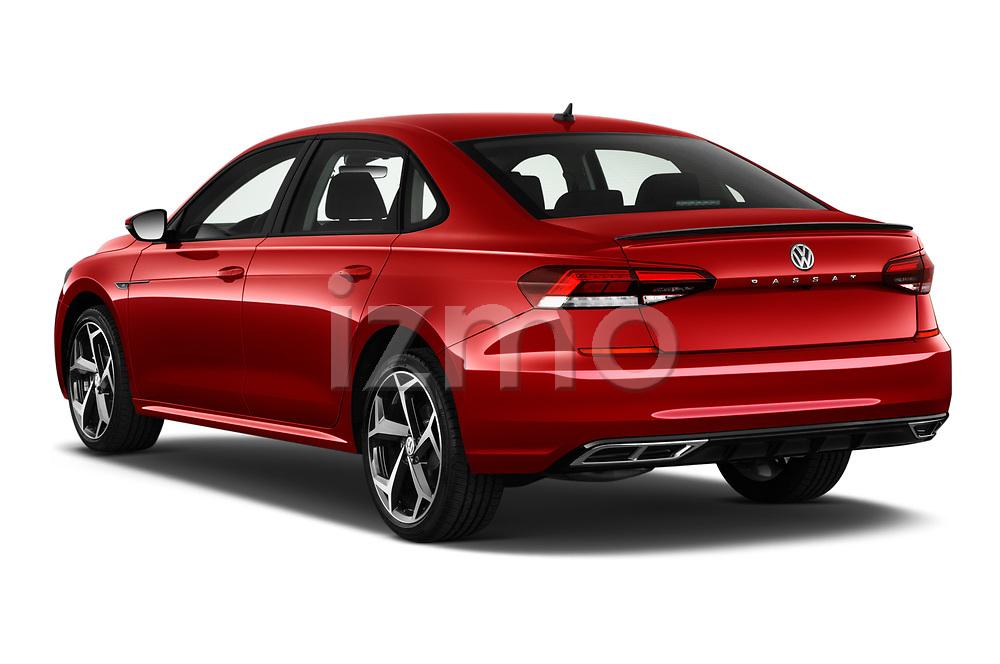 Car pictures of rear three quarter view of 2020 Volkswagen Passat R-Line 4 Door Sedan Angular Rear