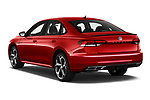 Car pictures of rear three quarter view of 2020 Volkswagen Passat R-Line 4 Door Sedan Angular Rear