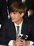 Kai(EXO), Aug 11, 2014 : Kai of South Korean-Chinese K-Pop idol boy band EXO, attends a presentation for their new show on Mnet, 'EXO 90:2014', at CJ E&M Center in Seoul, South Korea.  (Photo by Lee Jae-Won/AFLO) (SOUTH KOREA)